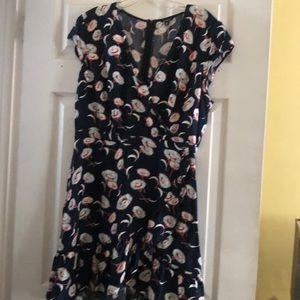 Mercantile by JCrew navy print dress
